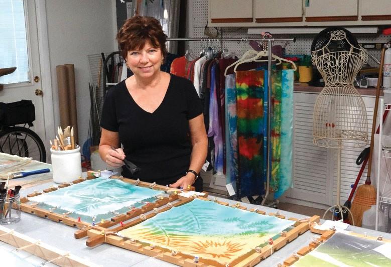 Naples fiber artist Leigh Herndon at work in her home studio. COURTESY PHOTO