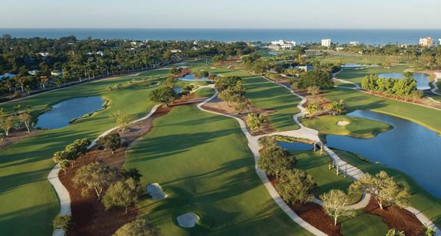 The 18 Hole Par 71 Championship Course At Naples Beach Hotel