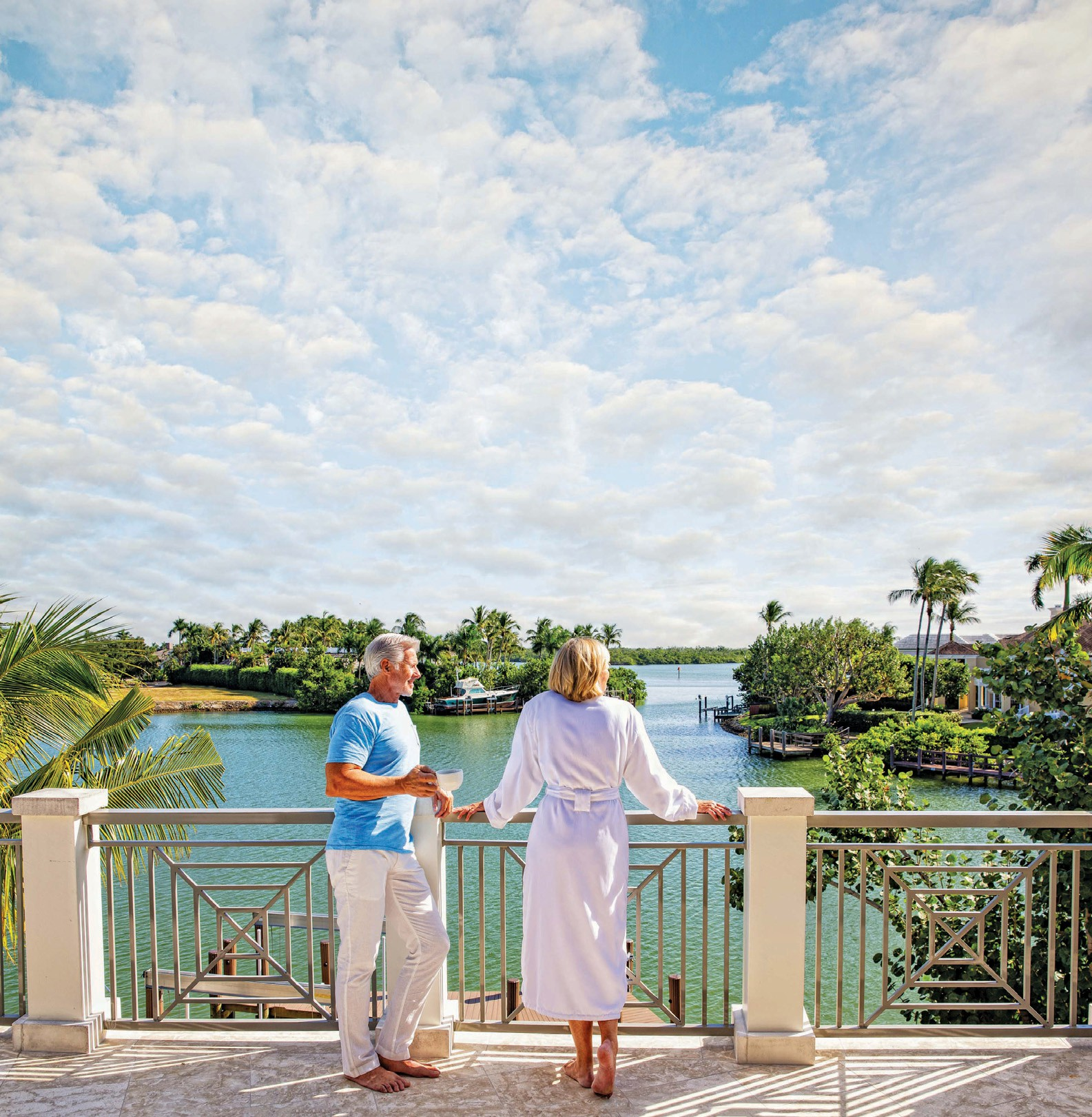 For the Chelston custom estate model by London Bay Homes in Old Naples, Romanza designer Melissa Allen opted for an island-inspired look, choosing features ...