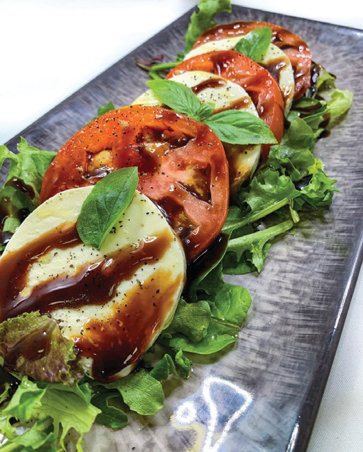 Caprese salad from Two Guys Kitchen & Catering. COURTESY OF TWO GUYS