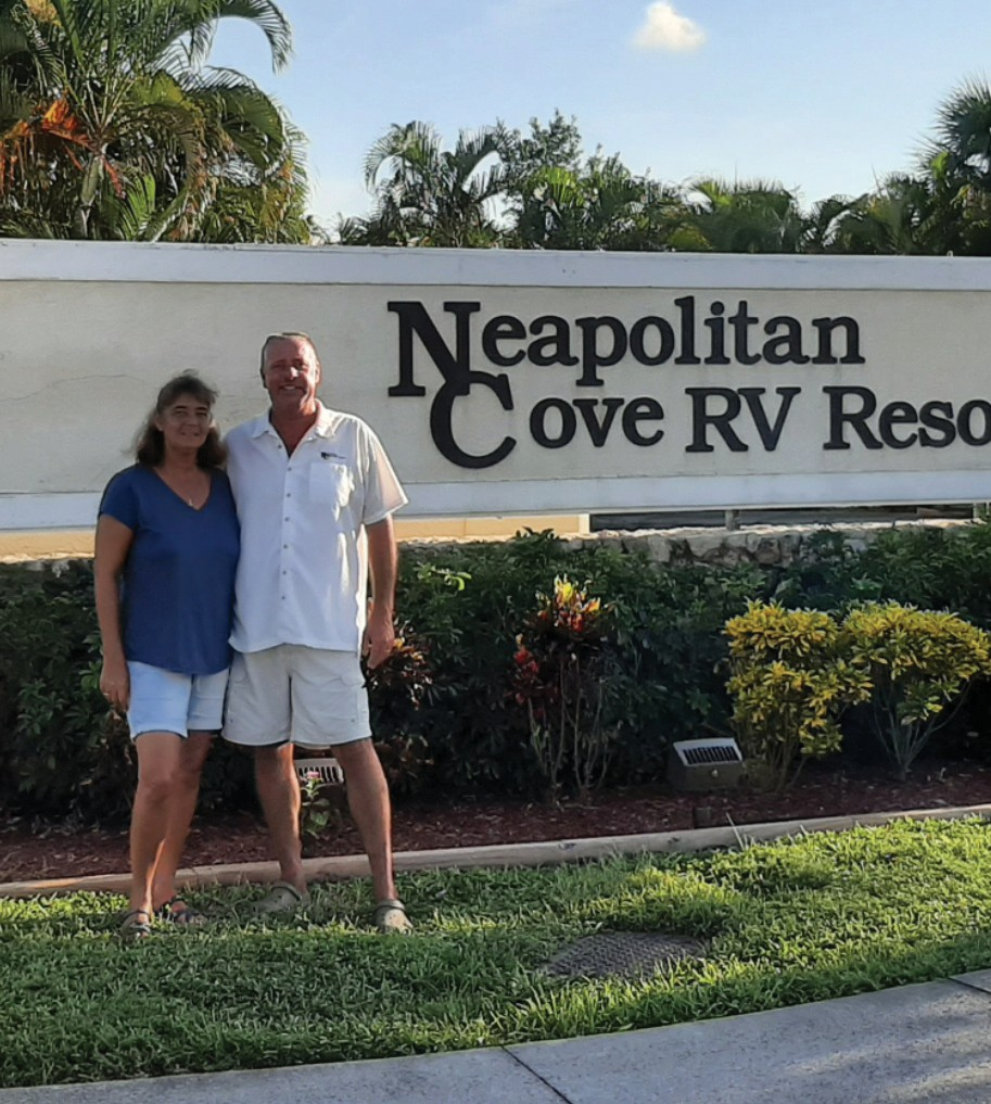 Shelly and Greg Finger co-manage the Neapolitan Cove RV Resort in Naples. PHOTO BY SHELLY FINGER / COURTESY OF NEAPOLITAN COVE RV RESORT