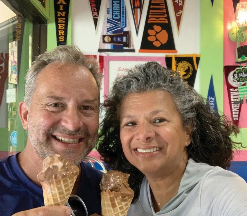 Jack and Rose Likens stopped for Love Boat Ice Cream near Fort Myers Beach while camping in their RV in Southwest Florida. PHOTO BY JACK AND ROSE LIKENS / COURTESY OF SHELL ON WHEELS BLOG