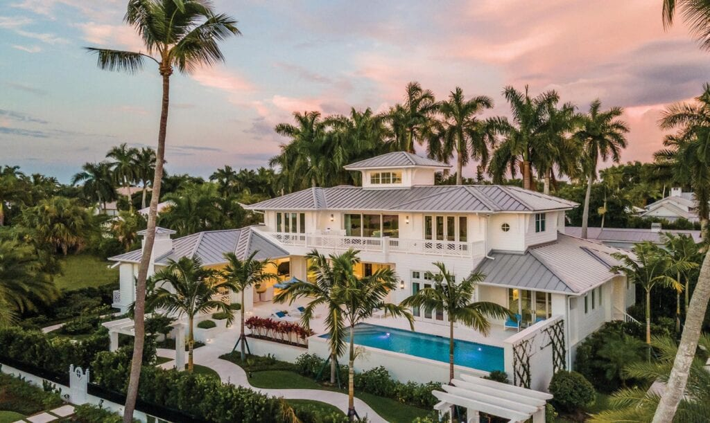 Romanza's gorgeous inside layout showcased in Gulf Shore Boulevard luxurious custom made dwelling