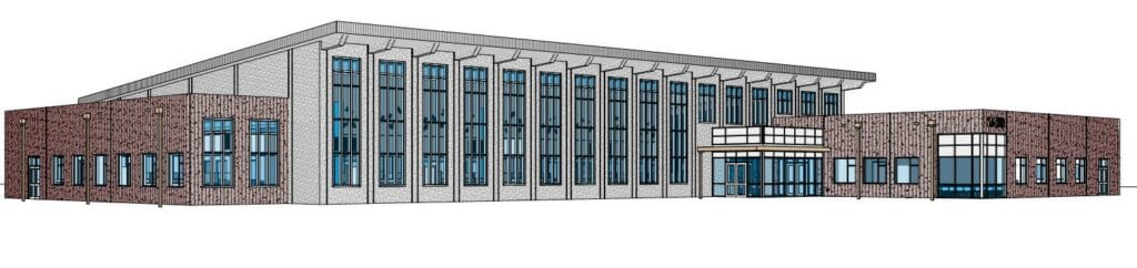 A rendering of the Heritage Bay Government Services building planned on the Collier Boulevard extension in North Naples. COURTESY OF COLLIER COUNTY