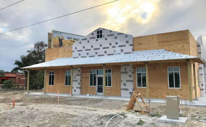 Aspen Dental is building a Bonita Springs office between Walgreens and Wendy's on the western side of U.S. 41 just south of Bonita Beach Road. TIM ATEN / NAPLES FLORIDA WEEKLY