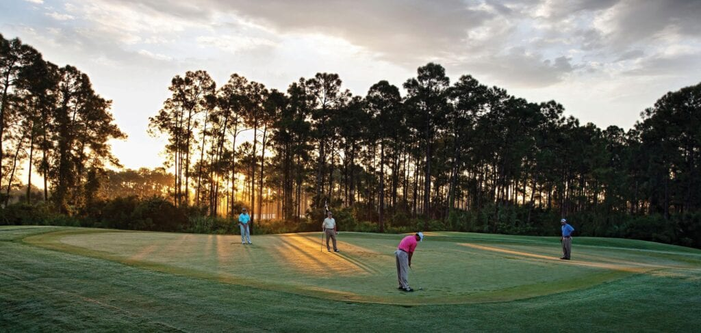 Homebuyers eager to play the community's two beautiful Tom Fazio-designed championship courses are eligible to secure a full golf membership immediately rather than being placed on the membership waiting list.
