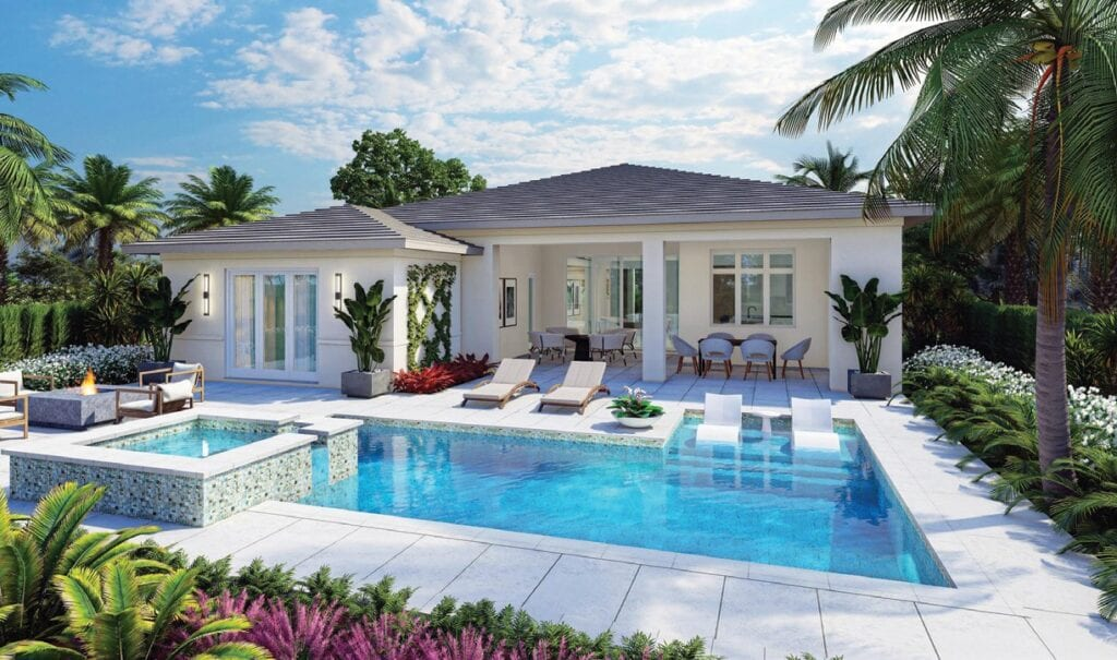 London Bay Homes' 3,377-square-foot Mallory model will offer four bedrooms, four baths, and an expansive outdoor living space in the Cabreo neighborhood.