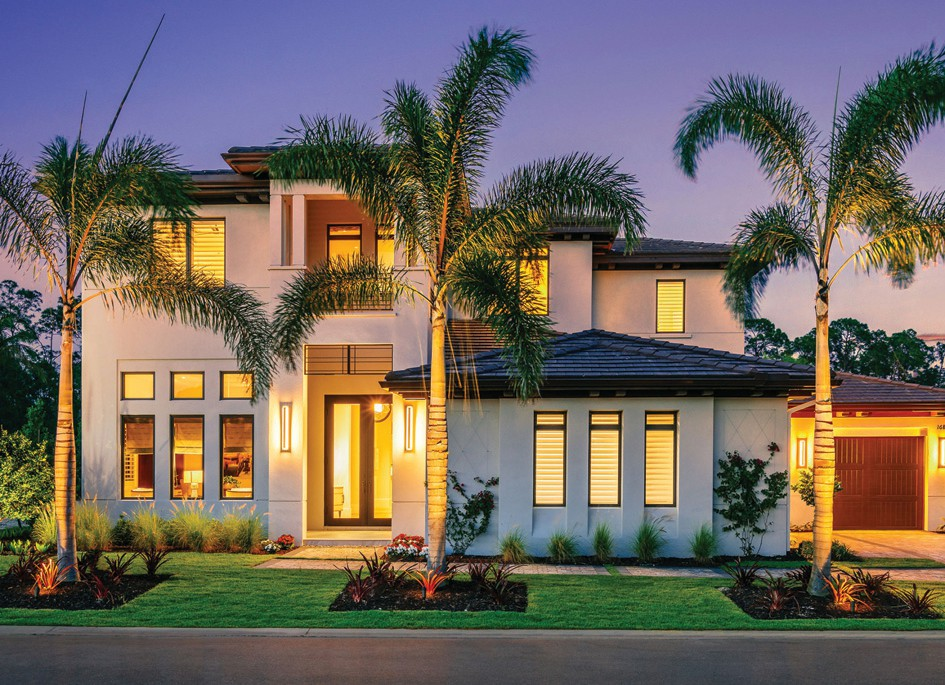 The Wellington model illustrates the new, open-design floor plans featuring clean lined, coastal-inspired architecture.