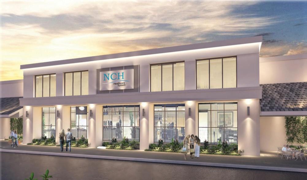 NCH Healthcare System está experimentando un cambio de imagen multimillonario por dentro y por fuera en el Green Tree Center en North Naples.  Arquitectura de Lotus ARQUITECTURA DE LOTUS
