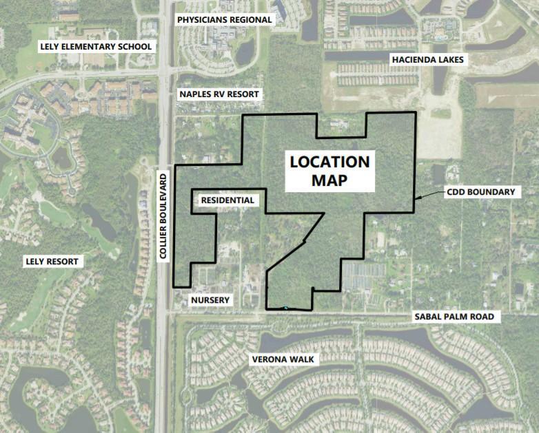 DR Horton está construyendo Tamarindo, una comunidad de viviendas unifamiliares, en más de 106 acres a lo largo de Collier Boulevard, al sur del Centro Médico Regional de Médicos y al norte de la comunidad cerrada VeronaWalk.  Contribuido