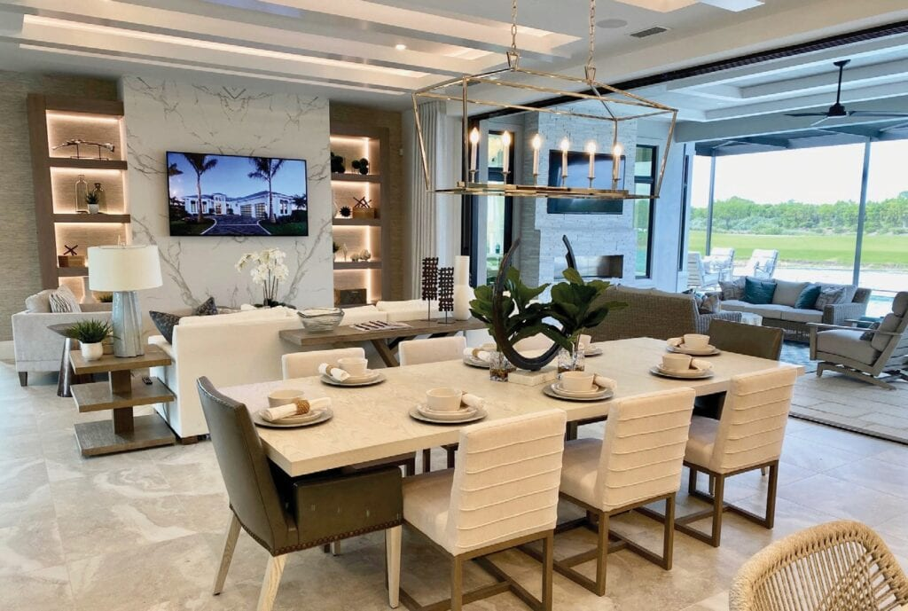 Right: Imperial Homes' Domenica II model in Peninsula Treviso Bay has a very open floor plan.
