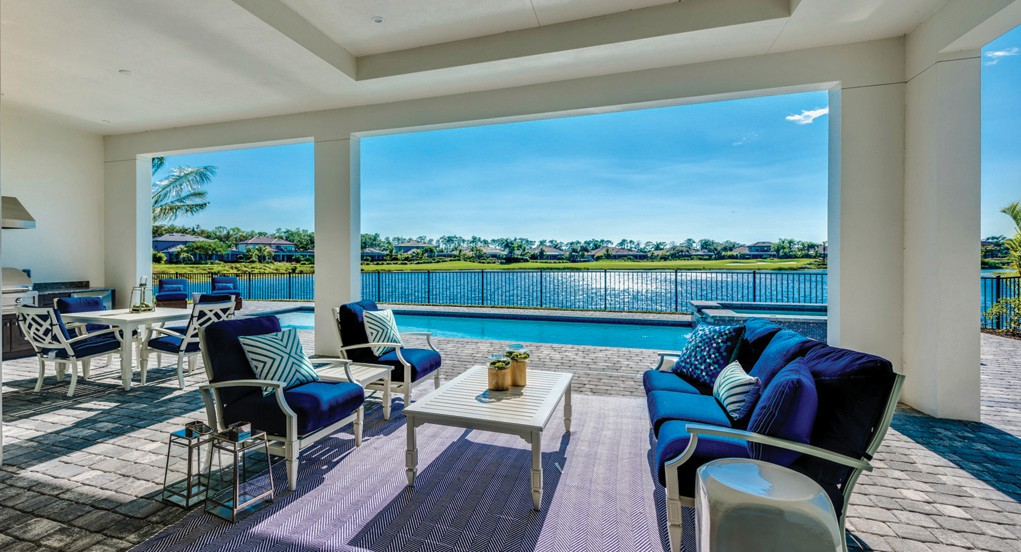 The homes at Peninsula Treviso Bay were designed to enjoy the outdoor lifestyle.