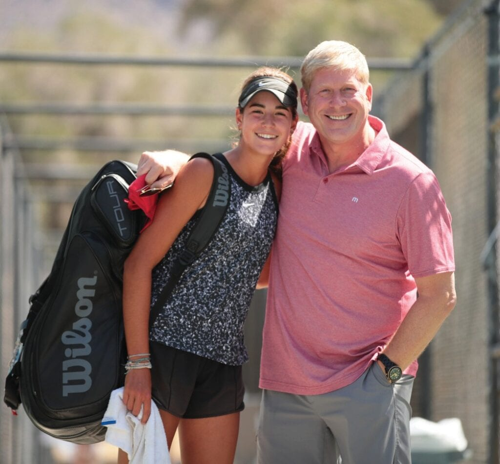 Sophia Webster and her dad Steve Webster, and the rest of their family, are moving to Naples from California.