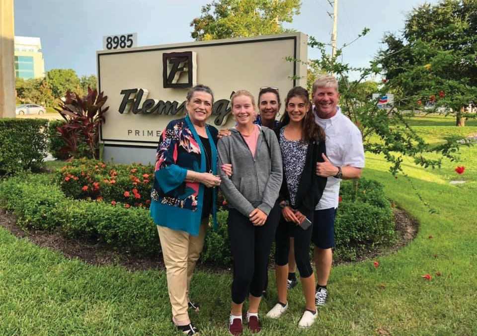 The Webster family will soon be making a permanent move to Naples from California. From left, Mary Webster, Savannah Webster, Stella Sampras Webster, Sophia Webster and Steve Webster. COURTESY PHOTO