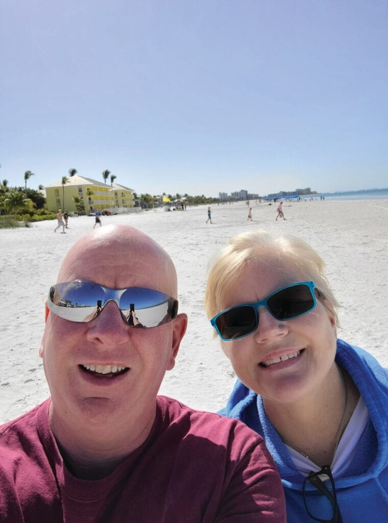 Chris Donovan and Catharine Donovan moved from Massachusetts to Fort Myers Beach. COURTESY PHOTO