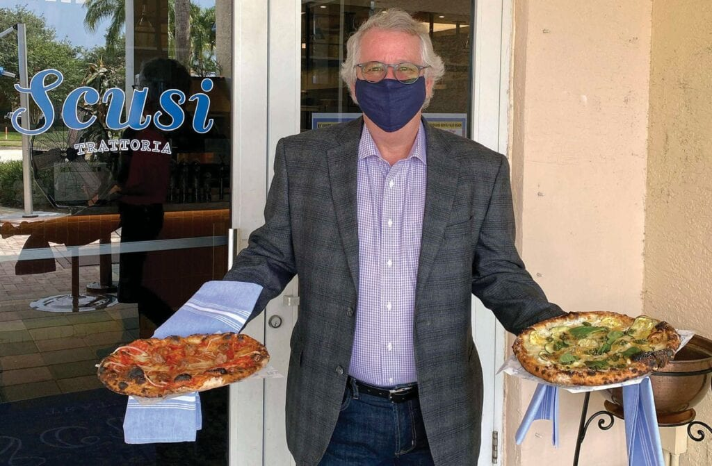 Mark DeAtley, general manager of Scusi Trattoria in Palm Beach Gardens, says generous unemployment benefits are not the sole reason why there's a shortage of workers — many have found club jobs that otherwise would have been filled by foreign workers; others have left the restaurant industry. COURTESY PHOTO